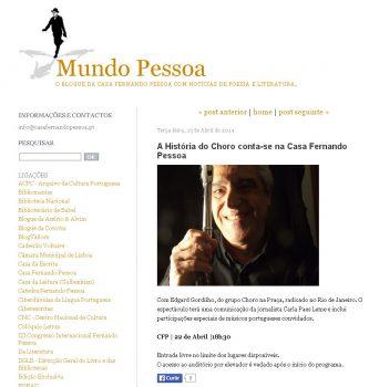 dia do choro em portugal casa fernando pessoa edgard gordilho flautista